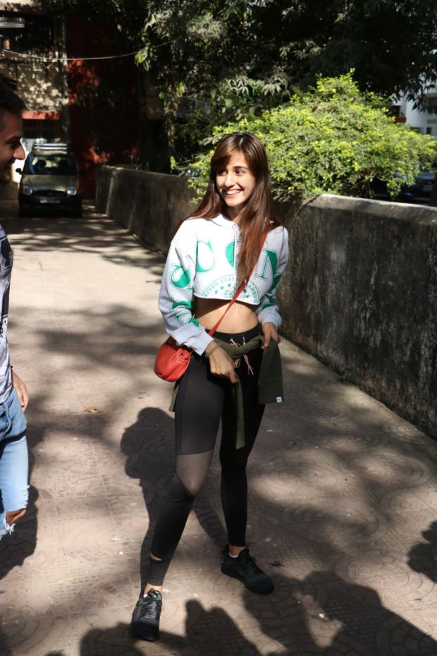 Disha Patani Looks Cool In A Cropped Sweatshirt