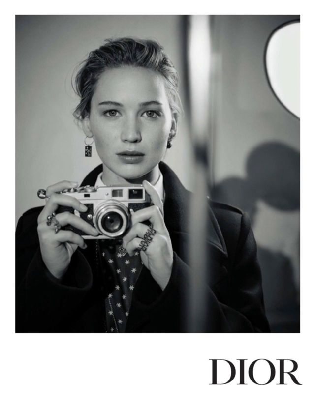 Jennifer Lawrence's Vintage Style Photoshoot For Dior 2018