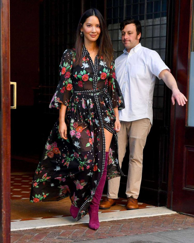 Beautiful Olivia Munn Stepped Out In A Floral Dress