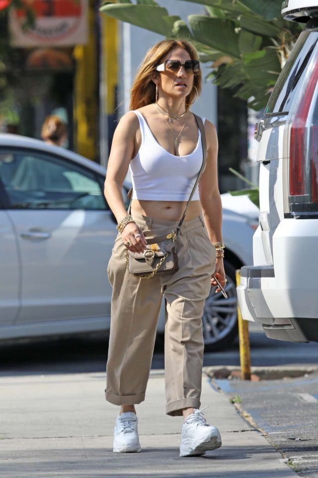 Jennifer Lopez Spotted Out And About In Beverly Hills