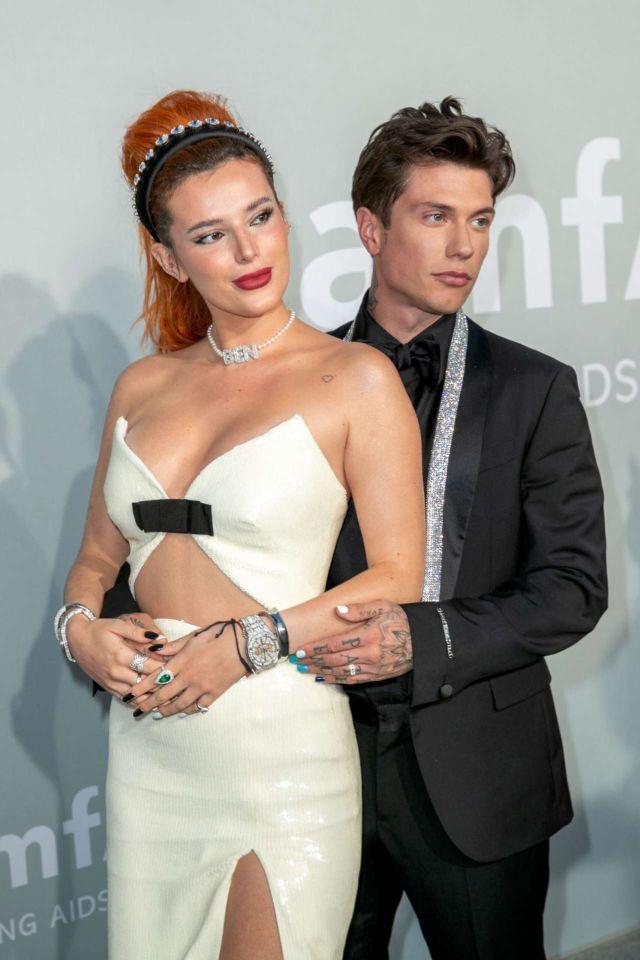 Beautiful Bella Thorne Attends amfAR Cannes Gala 2021