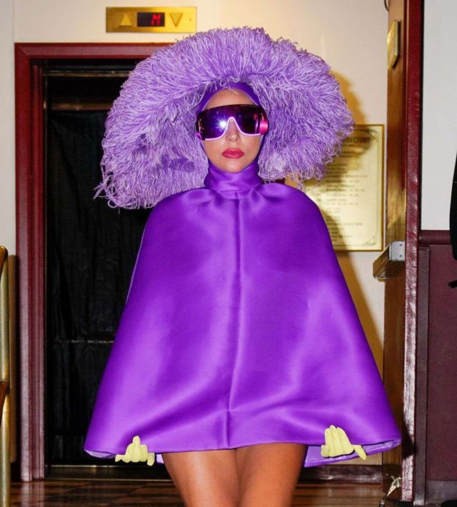 Lady Gaga Spotted Leaving Radio City Music Hall In New York