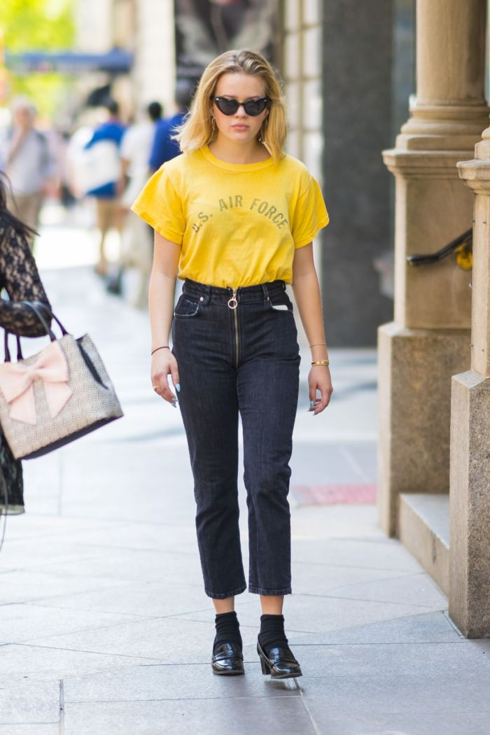 Ava Phillippe Shows Her Street Fashion In NYC